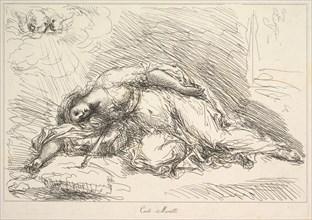 Woman Slain with Sword, 1740-1802. Creator: Giuseppe Canale.