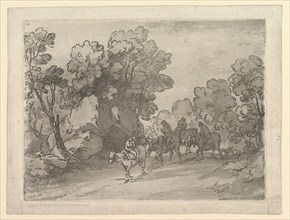 Wooded Landscape with Riders, August 1, 1797. Creator: Thomas Gainsborough.