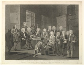 Bambridge on Trial for Murder by a Committee of the House of Commons, June 1, 1803. Creator: Thomas Cook.