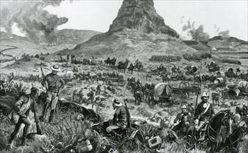 Isandlwana during the Zulu War. Creator: Melton Prior.