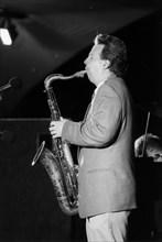 Harry Allen, JATP session, North Sea Jazz Festival, The Hague, Netherlands, 2002. Creator: Brian Foskett.