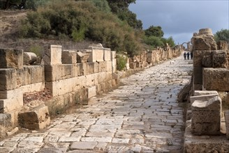 Libya, Leptis Magna, ancient street through the town, 2007. Creator: Ethel Davies.