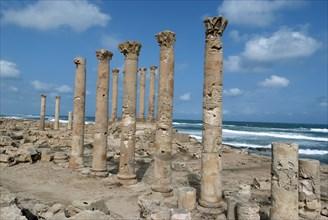 Libya, Sabratha, Temple of Isis, 2007. Creator: Ethel Davies.