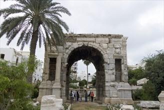 Libya, Tripoli, Arch of Marcus Aurelius, 2007. Creator: Ethel Davies.
