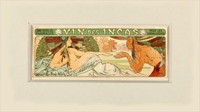 Vin des Incas , 1897. Creator: Mucha, Alfons Marie