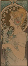 Feather, 1899. Creator: Mucha, Alfons Marie