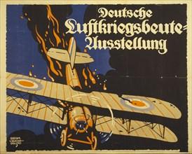 German exhibition of the spoils of air war, 1918. Creator: Suchodolski, Siegmund von
