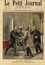 Le Petit Journal concerning the Dreyfus Affair , 1899. Creator: Damblans, Eugène