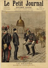 Le Petit Journal concerning the Dreyfus Affair , 1895. Creator: Meyer