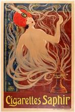 Cigarettes Saphir , 1910. Creator: Stephano