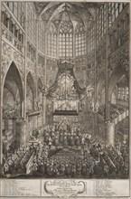 The Coronation of Maria Theresa at Prague Castle, 1743. Creator: Rentz, Michael Heinrich