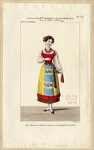Mademoiselle Noblet as Fenella. Costume design for the opera La muette de Portici, 1828. Creator: Maleuvre, Louis