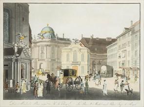 The Saint Michael Square in Vienna, Early 19th cen.. Creator: Postl, Karel