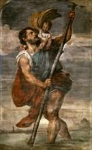 Saint Christopher, 1523-1524 . Creator: Titian