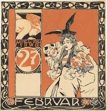 Calendar sheet: Wednesday 27th February. Creator: Moser, Koloman