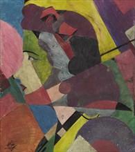 Woman in Profile. Creator: Klyun, Ivan Vassilyevich