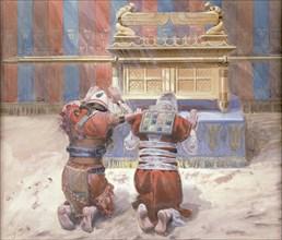 Moses and Joshua before the Tabernacle, ca 1896-1902. Creator: Tissot, James Jacques Joseph