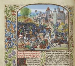 The Battle of Neville's Cross on 17 October 1346, ca 1470-1475. Creator: Liédet, Loyset