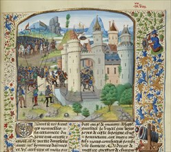 The French attempt to recapture Calais from England, 1350, ca 1470-1475. Creator: Liédet, Loyset