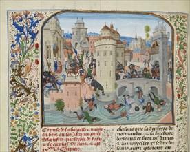 Defeat of the Jacquerie on 9 June 1358, ca 1470-1475. Creator: Liédet, Loyset