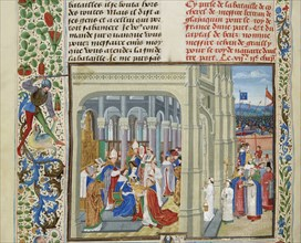 Coronation of Charles V of France on May 19, 1364, ca 1470-1475. Creator: Liédet, Loyset