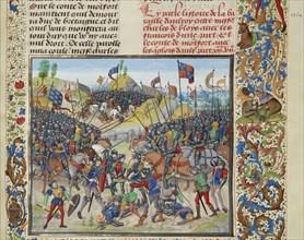 The Battle of Auray on 29 September 1364, ca 1470-1475. Creator: Liédet, Loyset