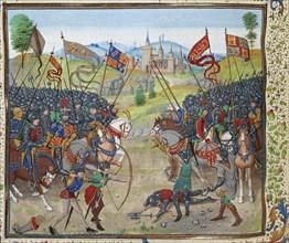 The Battle of Nájera on 3 April 1367, ca 1470-1475. Creator: Liédet, Loyset