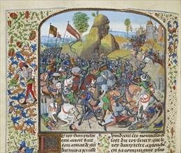 The Battle of Montiel in 1369, ca 1470-1475. Creator: Liédet, Loyset