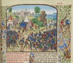 The Battle of Chiset on 21 March 1373, ca 1470-1475. Creator: Liédet, Loyset