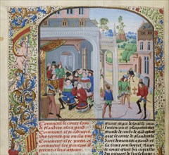 Homage of Louis II of Male by a deputation of Ghent, ca 1470-1475. Creator: Liédet, Loyset