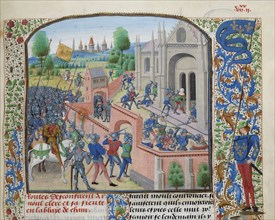 Taking of the Ename Abbey, 1381, ca 1470-1475. Creator: Liédet, Loyset