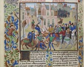 The Death of Wat Tyler, ca 1470-1475. Creator: Liédet, Loyset