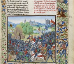 The Battle of Roosebeke on 27 November 1382, ca 1470-1475. Creator: Liédet, Loyset