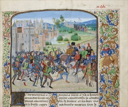 Return of Charles VI to Paris, ca 1470-1475. Creator: Liédet, Loyset