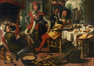Peasants by the Hearth, 1556. Creator: Aertsen, Pieter