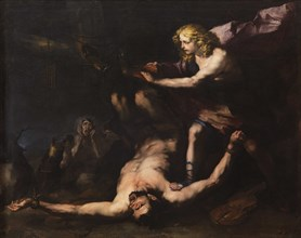 Apollo and Marsyas, c. 1660. Creator: Giordano, Luca