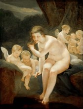 Venus Bathing, c. 1810. Creator: Prud'hon, Pierre-Paul