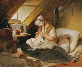 The poor officer's widow, 1836. Creator: Fendi, Peter