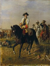 Gideon Ernst Freiherr von Loudon at Kunersdorf  , 1877. Creator: L'Allemand, Siegmund