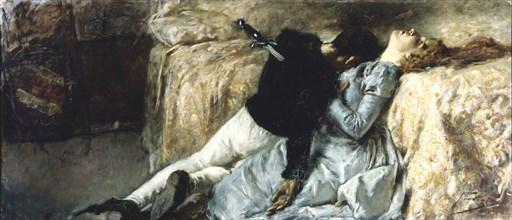 Paolo and Francesca, ca 1887. Creator: Previati, Gaetano