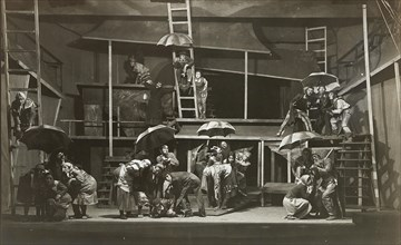 Scene from The Witch by Abraham Goldfaden, State Jewish Chamber Theater, Moscow, 1921. Creator: Anonymous.