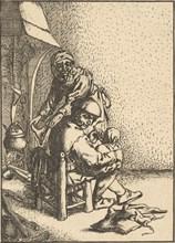 Father Feeding his Child, 1610-85. Creator: Unknown.