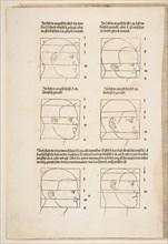 Illustration and Text from Dürers Vier Bucher von Menslicher Proportion, Nuremberg, 1528.n.d. Creator: Albrecht Durer.