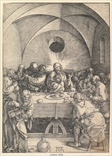 The Last Supper, from The Large Passion, 1510. Creator: Albrecht Durer.