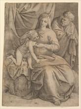 The Holy Family, 1510-61. Creator: Battista Franco Veneziano.