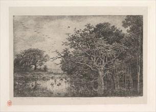 The Marshes, 1851. Creator: Charles Francois Daubigny.