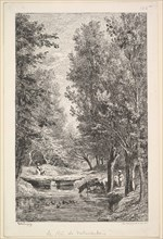 A Stream in the Mondois Valley, 1835-78. Creator: Charles Francois Daubigny.