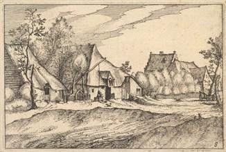 Farms in a Village from Regiunculae et Villae Aliquot Ducatus Brabantiae, ca. 1610. Creator: Claes Jansz Visscher.