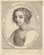 Maddalena Corvina, 1636. Creator: Claude Mellan.