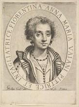 Anna Maria Vaiani, 1624-36. Creator: Claude Mellan.